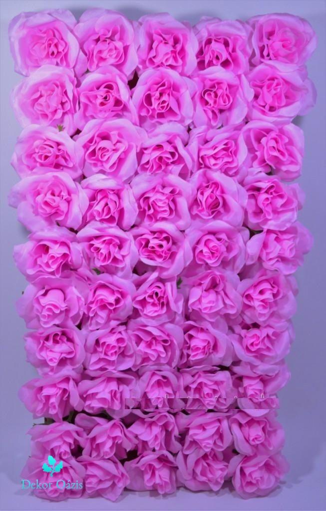 Nyílt rózsa fejvirág 12cm - 50db/tálca - Több színben